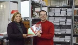 Doação de livros EEEF Nehyta Martins Ramos
