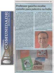Jornal Comunidade Zona Sul agosto de 2013